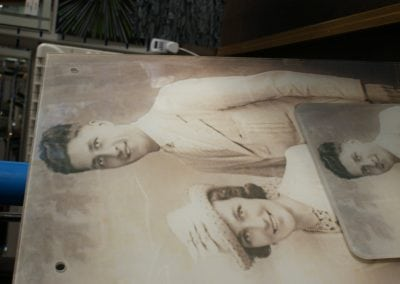 Old Photos Printed On Glass
