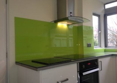 green splashback